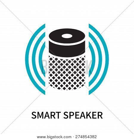 Smart Speaker Icon Isolated On White Background. Smart Speaker Icon Simple Sign. Smart Speaker Icon