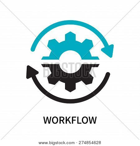 Workflow Icon Isolated On White Background. Workflow Icon Simple Sign. Workflow Icon Trendy And Mode