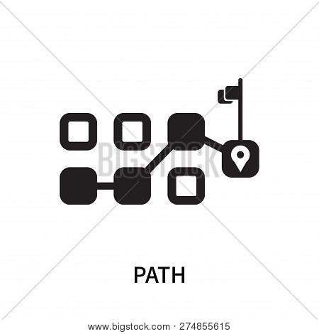 Path Icon Isolated On White Background. Path Icon Simple Sign. Path Icon Trendy And Modern Symbol Fo