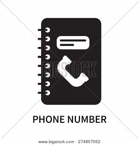 Phone Number Icon Isolated On White Background. Phone Number Icon Simple Sign. Phone Number Icon Tre