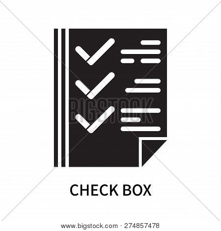 Check Box Icon Isolated On White Background. Check Box Icon Simple Sign. Check Box Icon Trendy And M