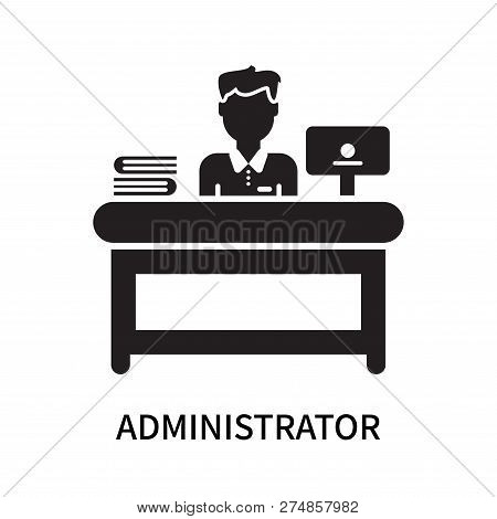 Administrator Icon Isolated On White Background. Administrator Icon Simple Sign. Administrator Icon