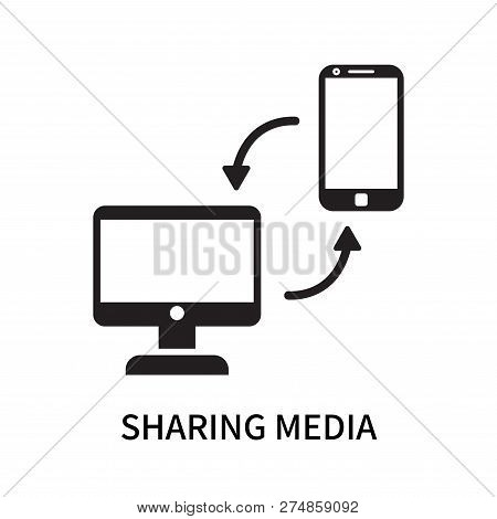 Sharing Media Icon Isolated On White Background. Sharing Media Icon Simple Sign. Sharing Media Icon