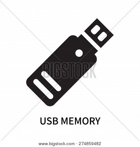 Usb Memory Icon Isolated On White Background. Usb Memory Icon Simple Sign. Usb Memory Icon Trendy An