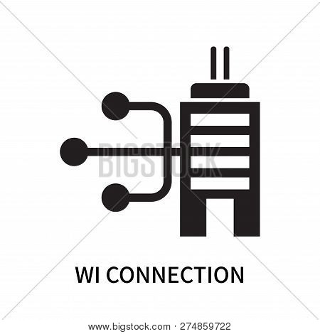 Wi Connection Icon Isolated On White Background. Wi Connection Icon Simple Sign. Wi Connection Icon
