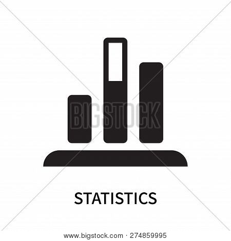 Statistics Icon Isolated On White Background. Statistics Icon Simple Sign. Statistics Icon Trendy An