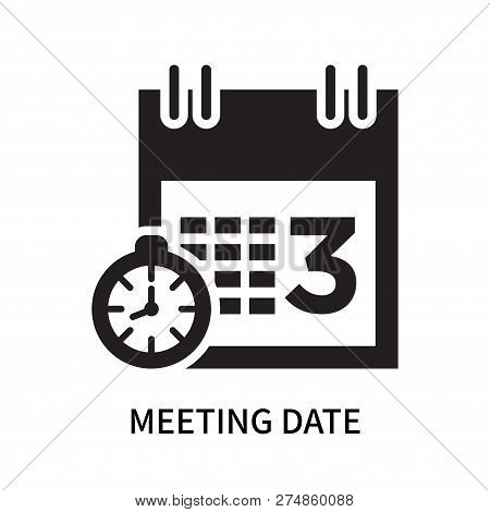 Meeting Date Icon Isolated On White Background. Meeting Date Icon Simple Sign. Meeting Date Icon Tre