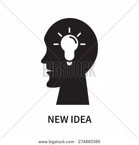 New Idea Icon Isolated On White Background. New Idea Icon Simple Sign. New Idea Icon Trendy And Mode