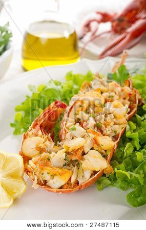 lobster with salad