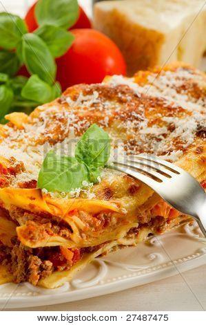 lasagna on dish poster