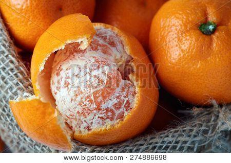 Mandarin Orange (citrus Reticulata) Also Known As The Mandarin Or Mandarine