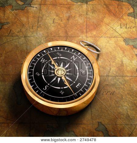 Karte- & -Kompass