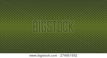 Abstract Geometric Degrade Seamless Pattern. Repeatable Border Motif With Small Geometry Shapes With