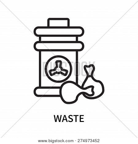 Waste Icon Isolated On White Background. Waste Icon Simple Sign. Waste Icon Trendy And Modern Symbol