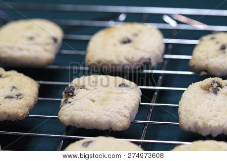 Chocolate Almond Shortbread Cookies