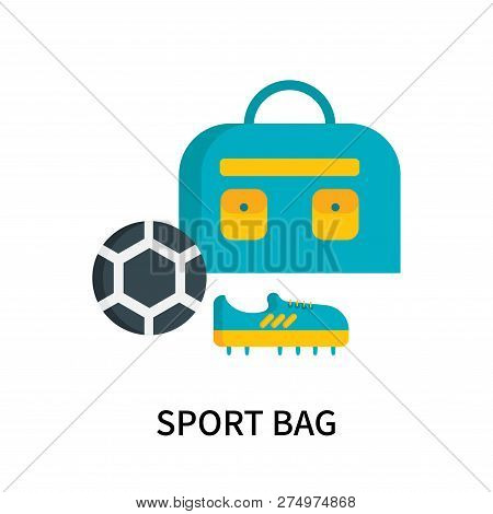 Sport Bag Icon Isolated On White Background. Sport Bag Icon Simple Sign. Sport Bag Icon Trendy And M