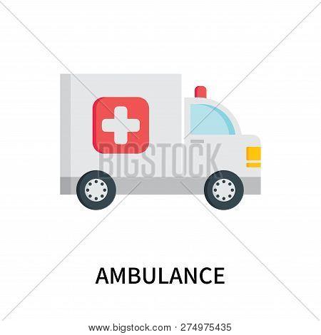 Ambulance Icon Isolated On White Background. Ambulance Icon Simple Sign. Ambulance Icon Trendy And M