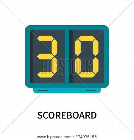 Scoreboard Icon Isolated On White Background. Scoreboard Icon Simple Sign. Scoreboard Icon Trendy An