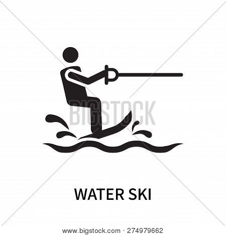 Water Ski Icon Isolated On White Background. Water Ski Icon Simple Sign. Water Ski Icon Trendy And M