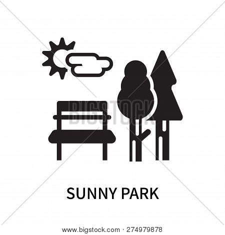 Sunny Park Icon Isolated On White Background. Sunny Park Icon Simple Sign. Sunny Park Icon Trendy An