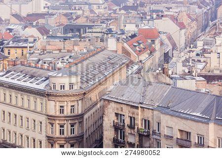 Budapest, Hungary - December 19, 2018: View Of St. Stephens Basilica, A Roman Catholic Basilica In B