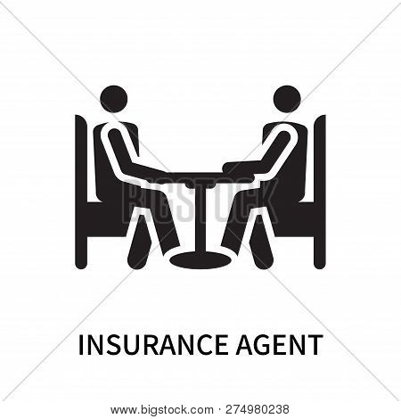 Insurance Agent Icon Isolated On White Background. Insurance Agent Icon Simple Sign. Insurance Agent