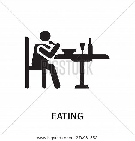 Eating Icon Isolated On White Background. Eating Icon Simple Sign. Eating Icon Trendy And Modern Sym
