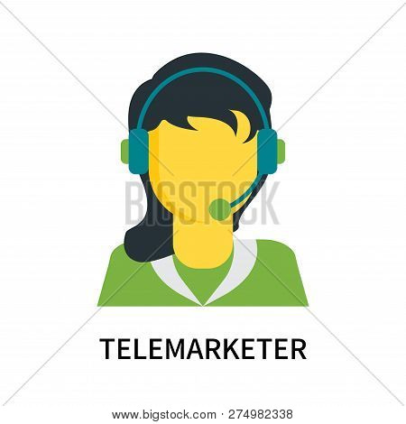 Telemarketer Icon Isolated On White Background. Telemarketer Icon Simple Sign. Telemarketer Icon Tre