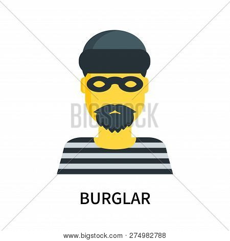 Burglar Icon Isolated On White Background. Burglar Icon Simple Sign. Burglar Icon Trendy And Modern