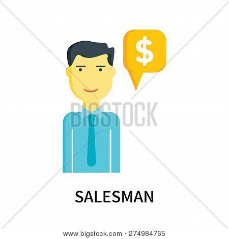 Salesman Icon Isolated On White Background. Salesman Icon Simple Sign. Salesman Icon Trendy And Mode