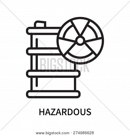 Hazardous Icon Isolated On White Background. Hazardous Icon Simple Sign. Hazardous Icon Trendy And M