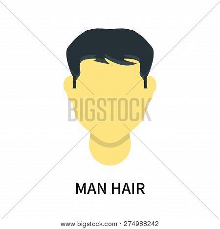 Man Hair Icon Isolated On White Background. Man Hair Icon Simple Sign. Man Hair Icon Trendy And Mode