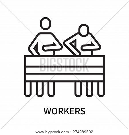 Workers Icon Isolated On White Background. Workers Icon Simple Sign. Workers Icon Trendy And Modern