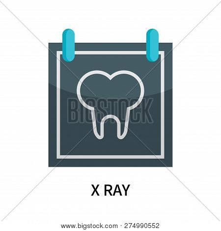 X Ray Icon Isolated On White Background. X Ray Icon Simple Sign. X Ray Icon Trendy And Modern Symbol