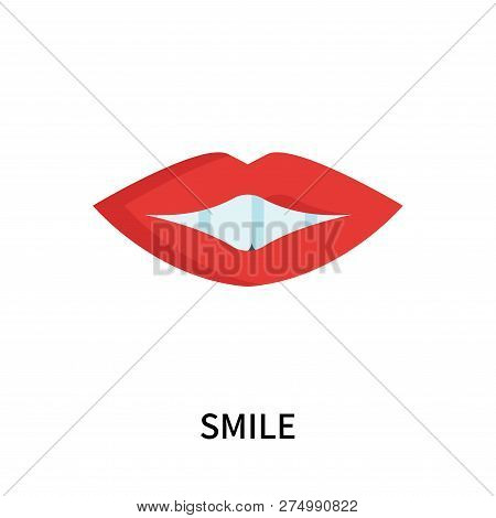 Smile Icon Isolated On White Background. Smile Icon Simple Sign. Smile Icon Trendy And Modern Symbol