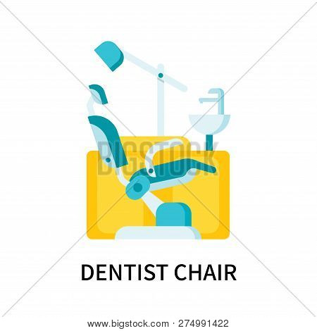 Dentist Chair Icon Isolated On White Background. Dentist Chair Icon Simple Sign. Dentist Chair Icon