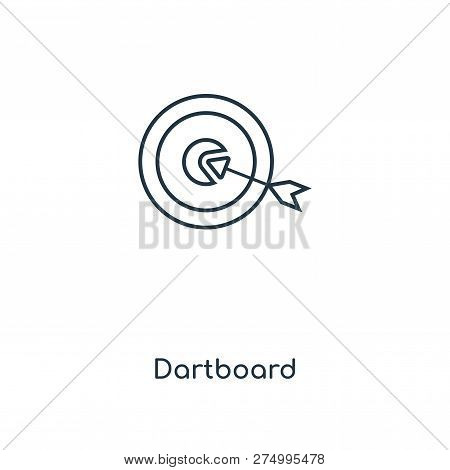 Dartboard Icon In Trendy Design Style. Dartboard Icon Isolated On White Background. Dartboard Vector