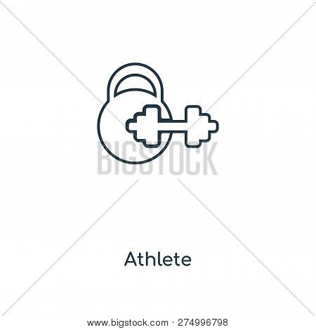 Athlete Icon In Trendy Design Style. Athlete Icon Isolated On White Background. Athlete Vector Icon