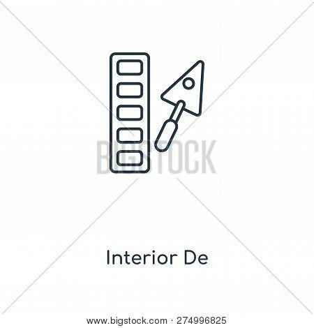 Interior Designer Icon In Trendy Design Style. Interior Designer Icon Isolated On White Background.