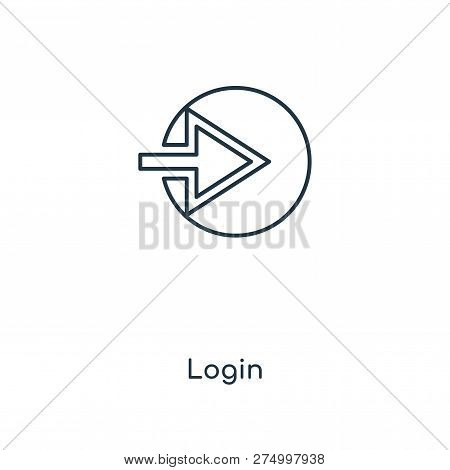 Login Icon In Trendy Design Style. Login Icon Isolated On White Background. Login Vector Icon Simple