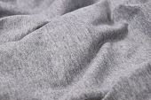 Close-up gray t-shirt cotton crease background skin poster