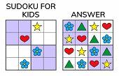 Sudoku. Kids and adult mathematical mosaic. Magic square. Logic puzzle game. Digital rebus. Vector illustration poster