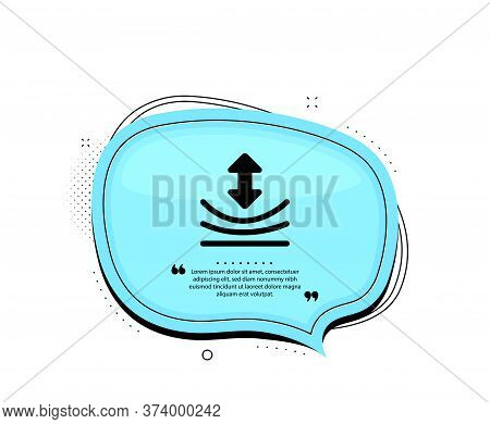 Resilience Icon. Quote Speech Bubble. Elastic Material Sign. Quotation Marks. Classic Resilience Ico