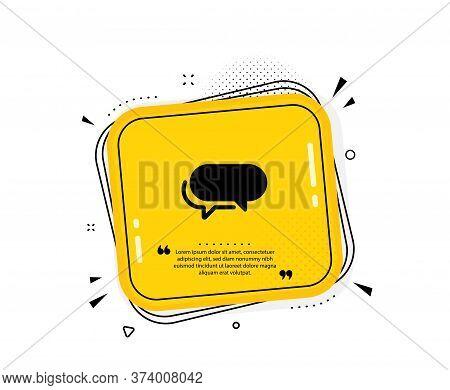Messenger Icon. Quote Speech Bubble. Speech Bubble Sign. Chat Message Symbol. Quotation Marks. Class