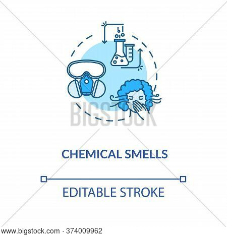 Chemical Smells Concept Icon. Flawed Wine Fermentation Indication Idea Thin Line Illustration. Recog