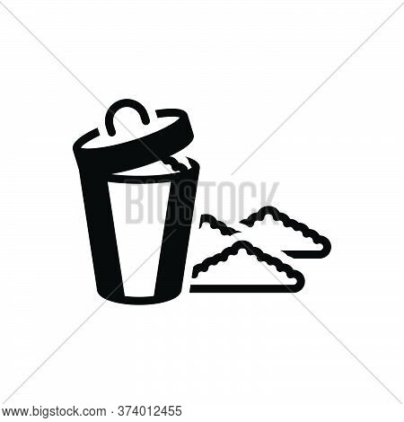 Black Solid Icon For Garbage Rubbish Debris Filth Squalor Mephitis Dustbin