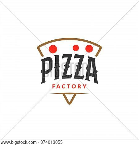 Pizza Logo Simple Emblem Vector For Pastry And Bakery Graphic Design Template Inspiration