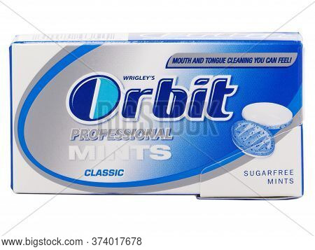 Bucharest, Romania - April 10, 2015. Orbit Professional Mints Classic, Used To Clean And Refresh The