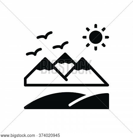 Black Solid Icon For Summer Beach Vacation Season Holiday