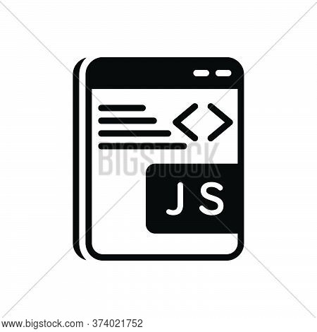 Black Solid Icon For Javascript Programming Software Coding Java